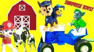 Paw Patrol Goes to the Farm and Saves Animals! Magical Toy Surprises Appear!