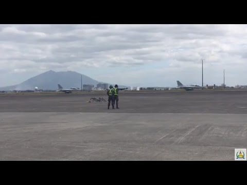 Philippine Air Force KAI FA-50 (#005 and #006) Arrival at Cl