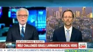 Feiglin Responds to Hamas 'Concentration Camp' Allegations  CNN משה פייגלין ב