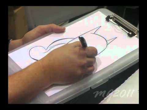 Bruce Timm draws Batgirl at ECCC 2011