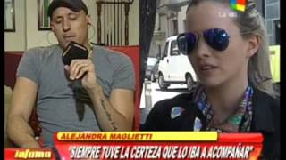 Alejandra Maglietti y Jonás Gutiérrez