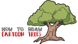 How to Draw a Cartoon Tree Step By Step