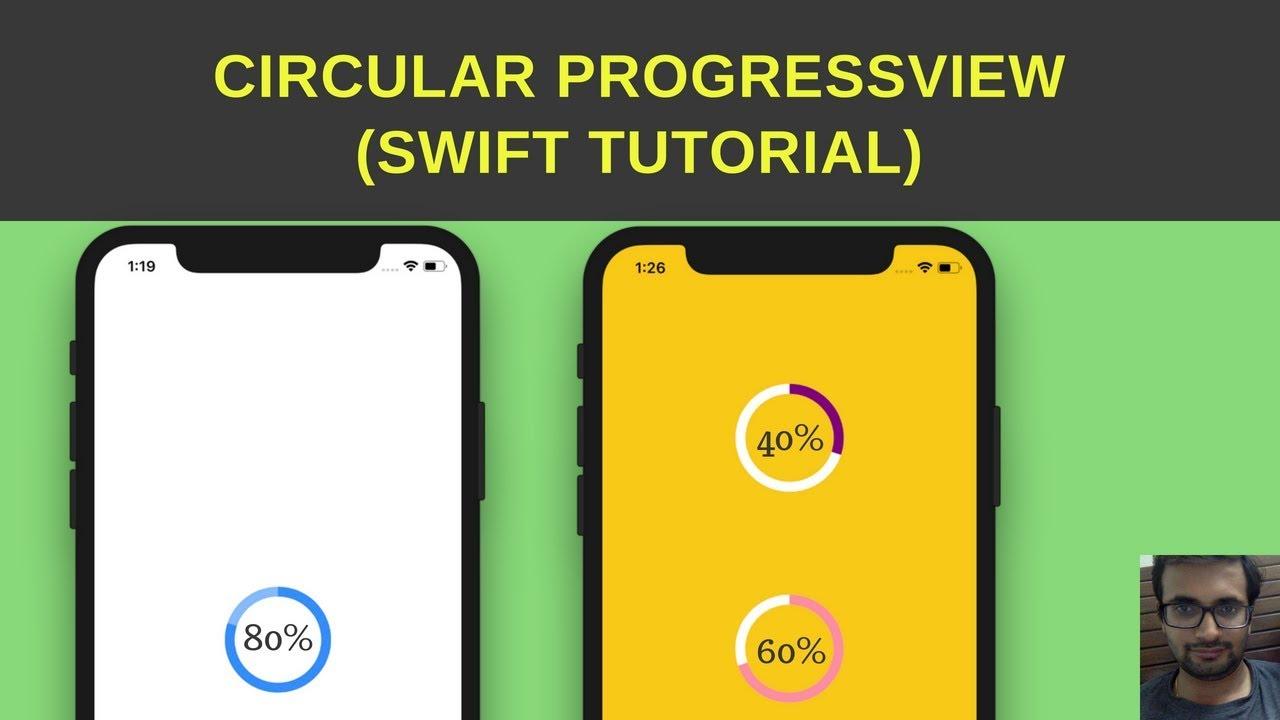 Swift Tutorial :- Create circularProgressView / circular progress bar iOS  swift