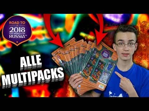 ALLE 15 MULTIPACKS WORLD CUP 2018 ALL LIMITED EDITIONS PANINI