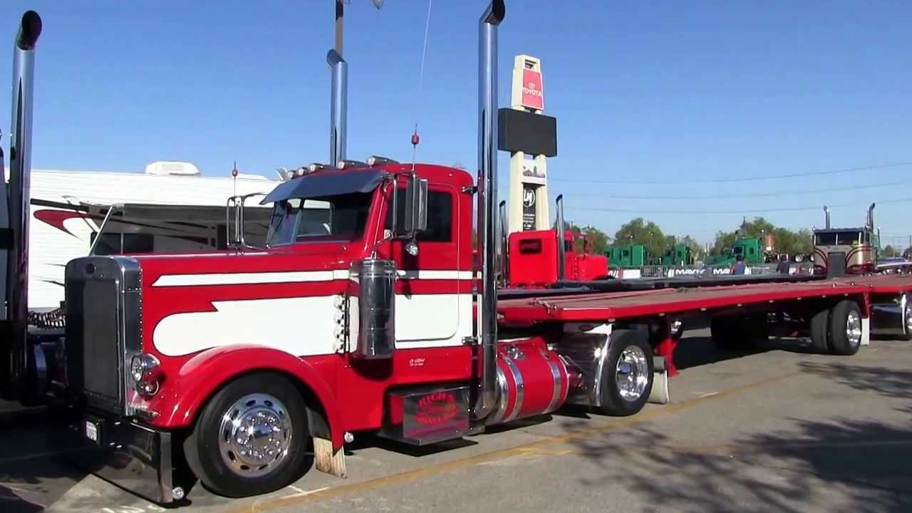 Peterbilt 379 Single Axle For Sale >> Rich's Hay Connection Peterbilt 379 At Truckin' For Kids 2013 - YouTube