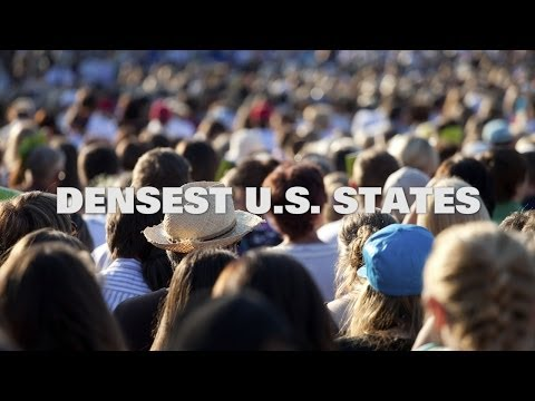 Top Ten Densest US States in 2014