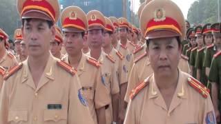 Lực lượng cảnh sát Công an thành phố Hà Nội báo công tại Lăng Bác