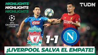 Highlights | Liverpool 1 - 1 Napoli | Champions League - J5 - Grupo E | TUDN
