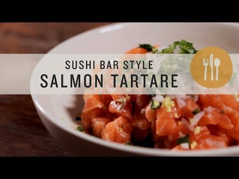 Sushi Bar Style Salmon Tartare   Superfoods
