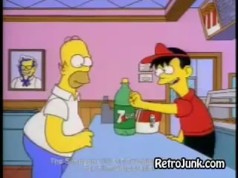 The Simpsons KFC Commercial - Free 7 UP