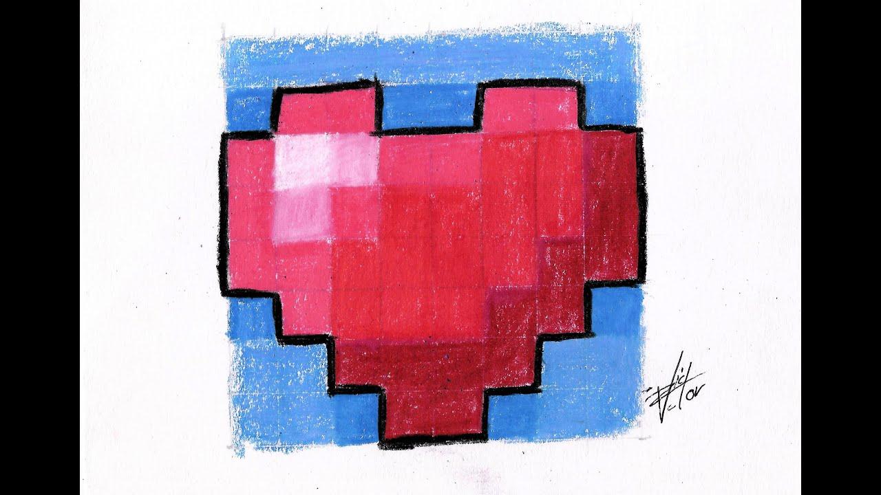 Como dibujar un corazon de minecraft paso a paso how to - Como hacer un corazon con fotos ...