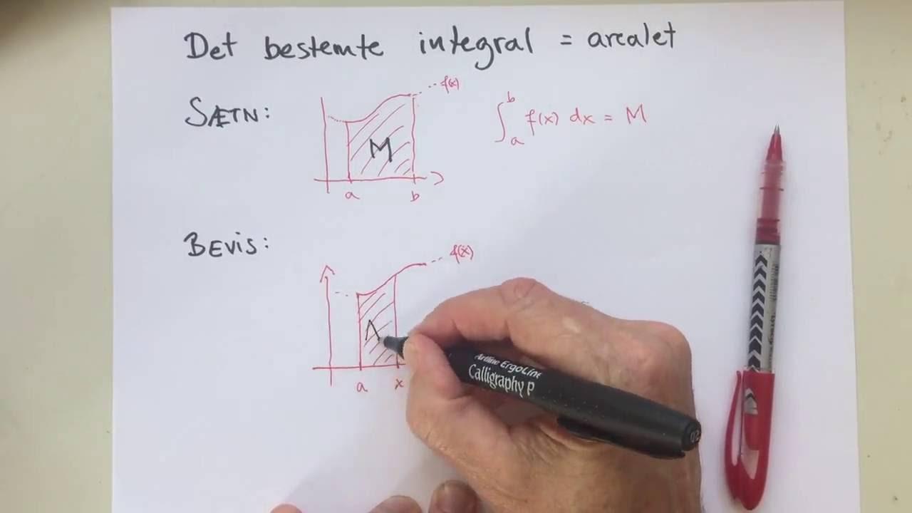 Areal og integral - det sidste trin