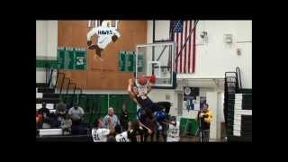 Dillon Voyles with his first official High School Slam Dunk for Galena High School