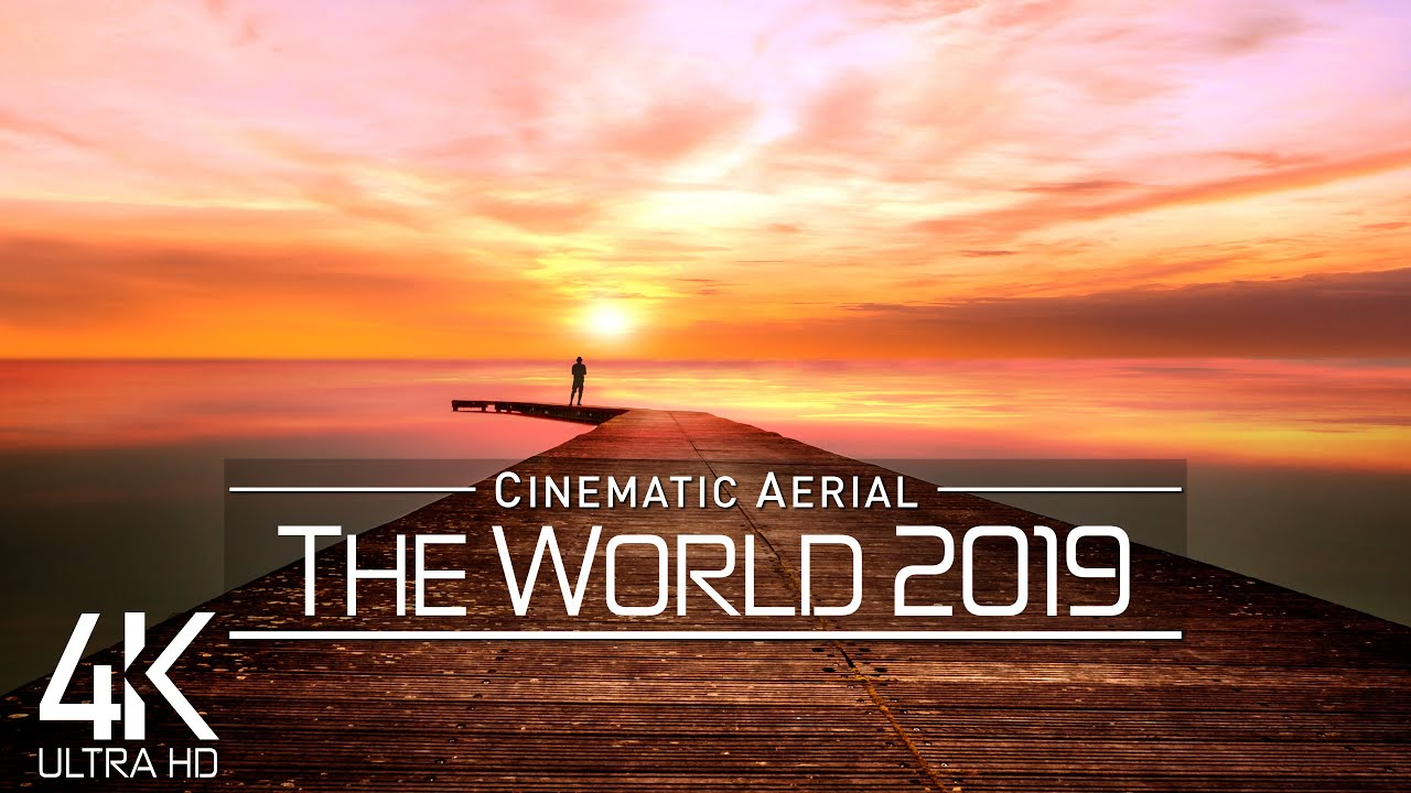 【4K】Drone Footage | The Beauty of PLANET EARTH in 3 ½ Cinematic Hours 2019 | 6 Continent Aerial Film
