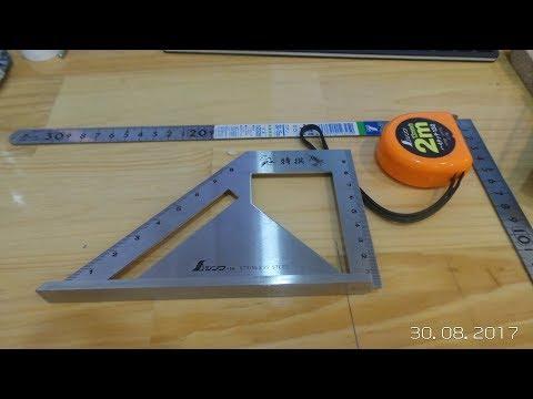 Shinwa combination square & Carpenters Square | Unboxing/ squareness testing