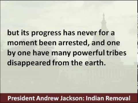 President Andrew Jackson announces Indian Removal Policy in 1830 State of the Union Speech
