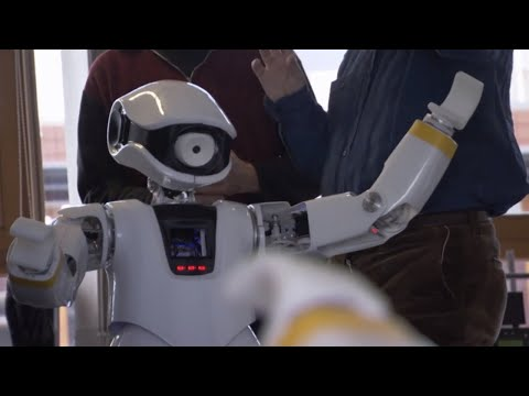 Amazing! Conversation Between Robots - The Hunt for AI - BBC