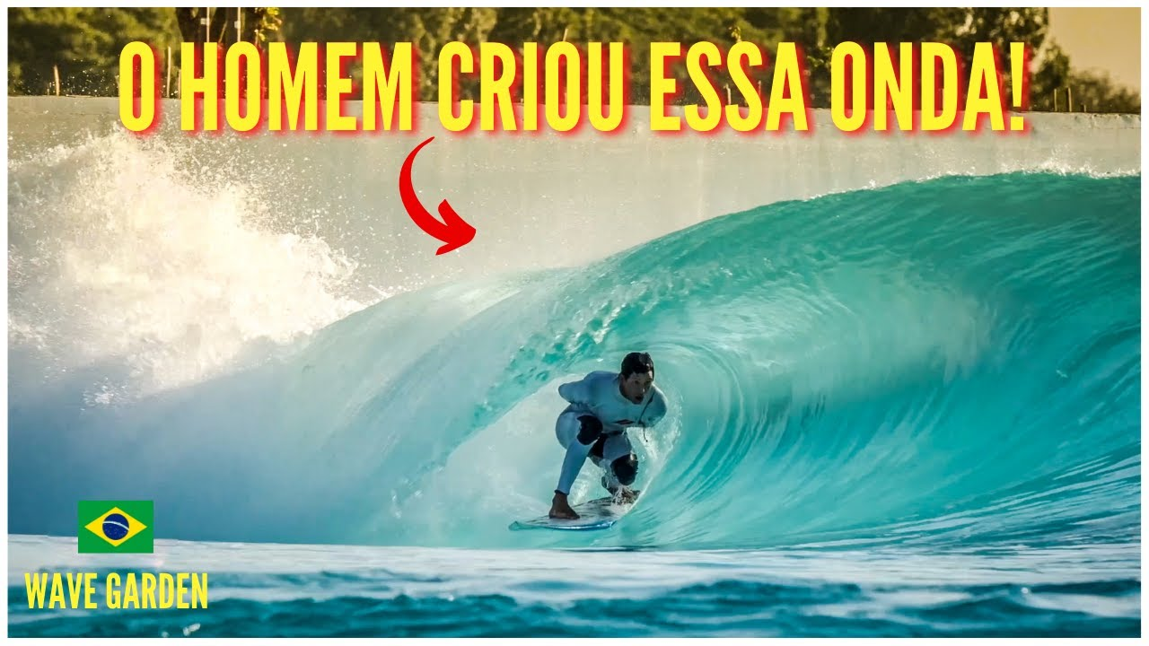 A MELHOR PISCINA DE ONDAS DO BRASIL: WAVE GARDEN NA PRAIA DA GRAMA.