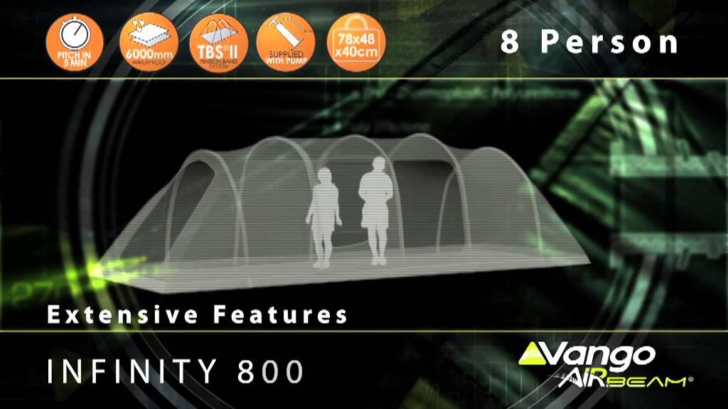 Vango Family Infinity Airbeam 174 Tent Filmed 2013 Youtube