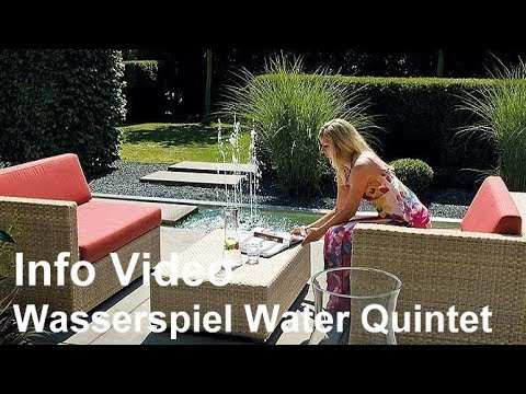 oase water quintet wasserspiel f r den garten video. Black Bedroom Furniture Sets. Home Design Ideas