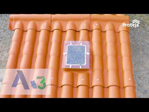 Instalación Proteja Teja Granada con Caballete Fijo