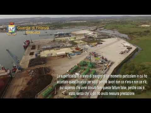 Porto di Augusta - Operazione Port Utility della guardia di Finanza