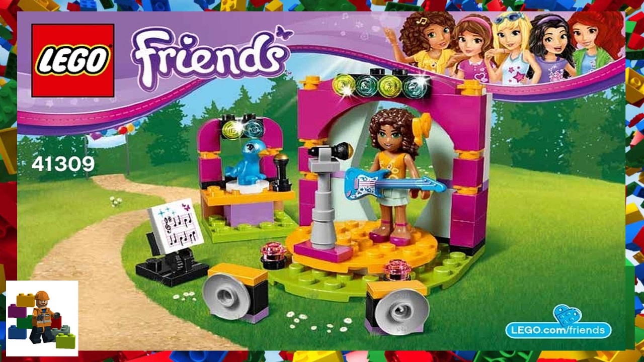 Lego Instructions Friends 41309 Andreas Show Youtube