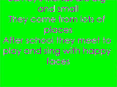 Barney is a dinosaur - Lyrics