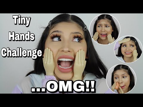 TINY HANDS MAKEUP CHALLENGE... the hardest thing i've ever done *SO FUNNY