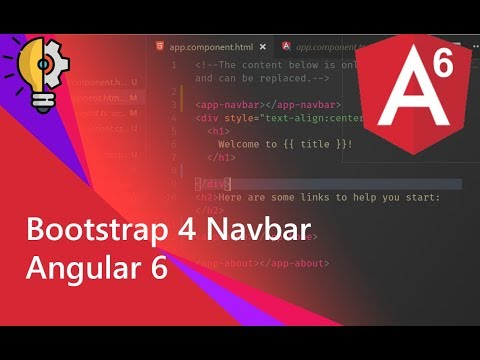 02 - Adding Bootstrap 4 Navbar with Component in Angular 6