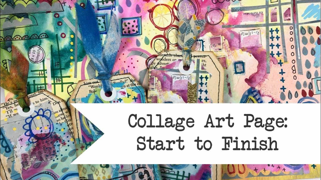 Collage Art Pages: Start to Finish - Digital Printable in Etsy Shop