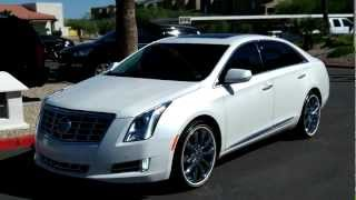 2013 Cadillac XTS, White Diamond Tricoat, Rear Vision, Lund Cadillac, Phoenix, AZ 85022
