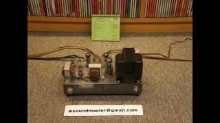 W Vintage EL84 6BQ5 Single-Ended 12AU7 Tube Power Integrated Stereo Amplifier