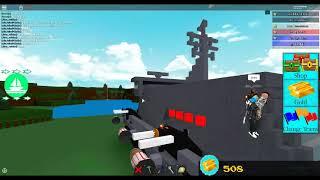 Roblox build a Boat For treasure Military Boat Big!