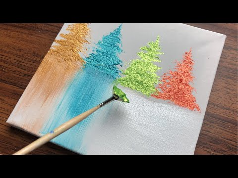 Simple Abstract Painting Demonstration |Acrylic Art ...