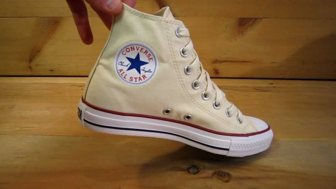 da5964e28dab Converse All Stars Chuck Taylor High Unbleached White - YouTube