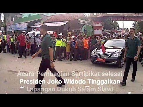 Presiden Joko Widodo Tinggalkan Dukuh Salam Slawi Tegal Lanjut Kunker Ke BanjarPatroman
