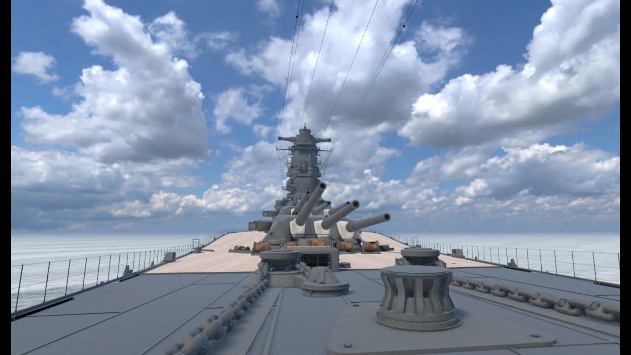 戦艦大和の広さが分かる画像