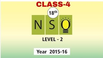 NSO CLASS-4 LEVEL-2 2015-16 QUESTION PAPER WITH ANSWERS.