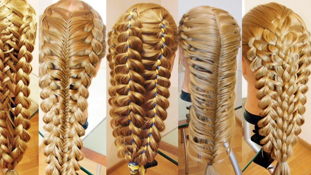 Сборник причёсок в технике трёх кос  Сложные косы ПРОСТЫМ СПОСОБОМ
