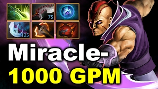 Miracle- 1000 GPM Anti-Mage vs Puppey BabyKnignt 9142 MMR Dota 2