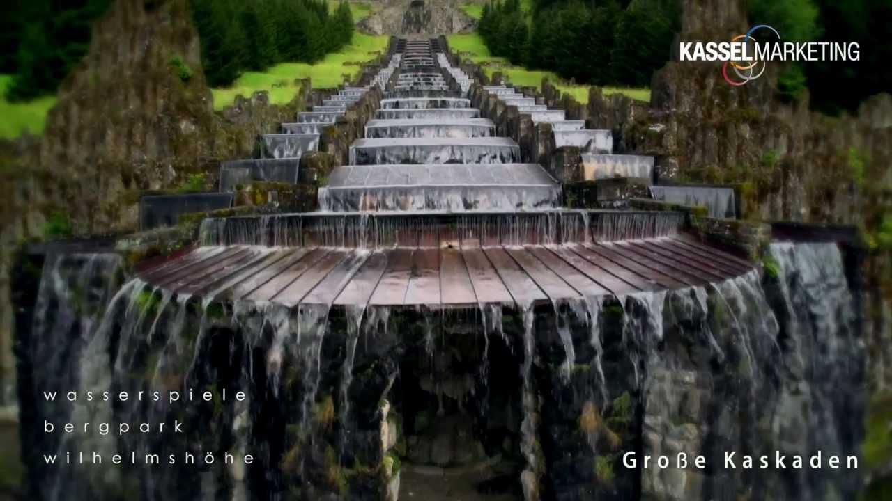 Wasserkaskaden Kassel wasserspiele wasserkünste im unesco welterbe bergpark wilhelmshöhe
