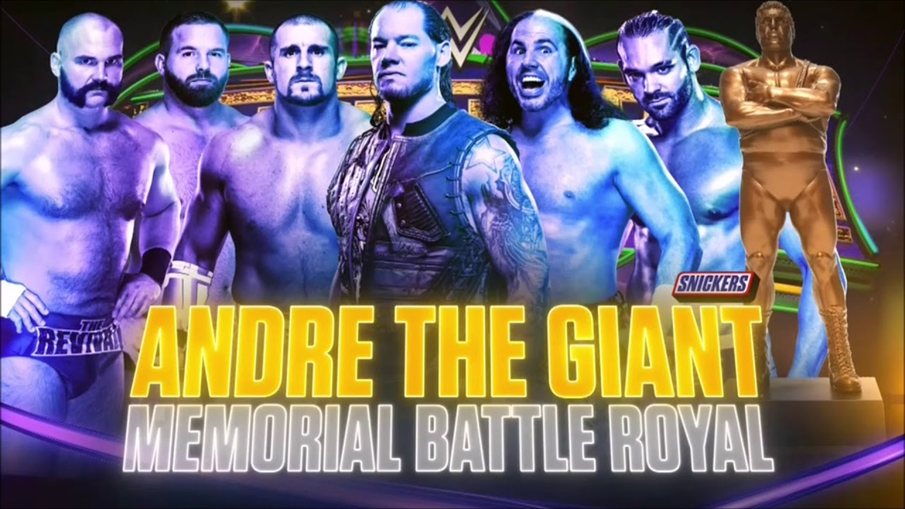 Image result for WrestleMania 34 Andre the Giant Battle Royal