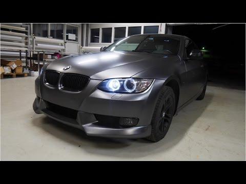 Car wrapping - BMW E92 Coupe satin dark grey