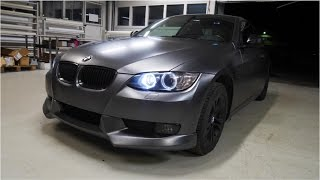 Car wrapping - BMW E92 Coupe satin dark grey