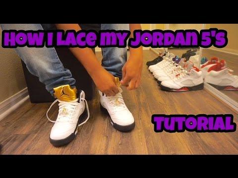 Tutorial: How To Lace Air Jordan 5's
