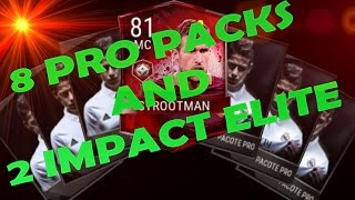 FIFA MOBILE ANDROID/IOS | PACK OPENING 8 PRO PACKS & GET 2 ELITES IMPACT PLAYER !!!