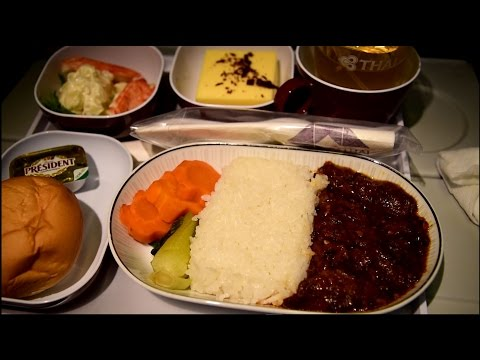Thai Airways Smooth As Silk Economy Class 777-300 Beijing to Bangkok