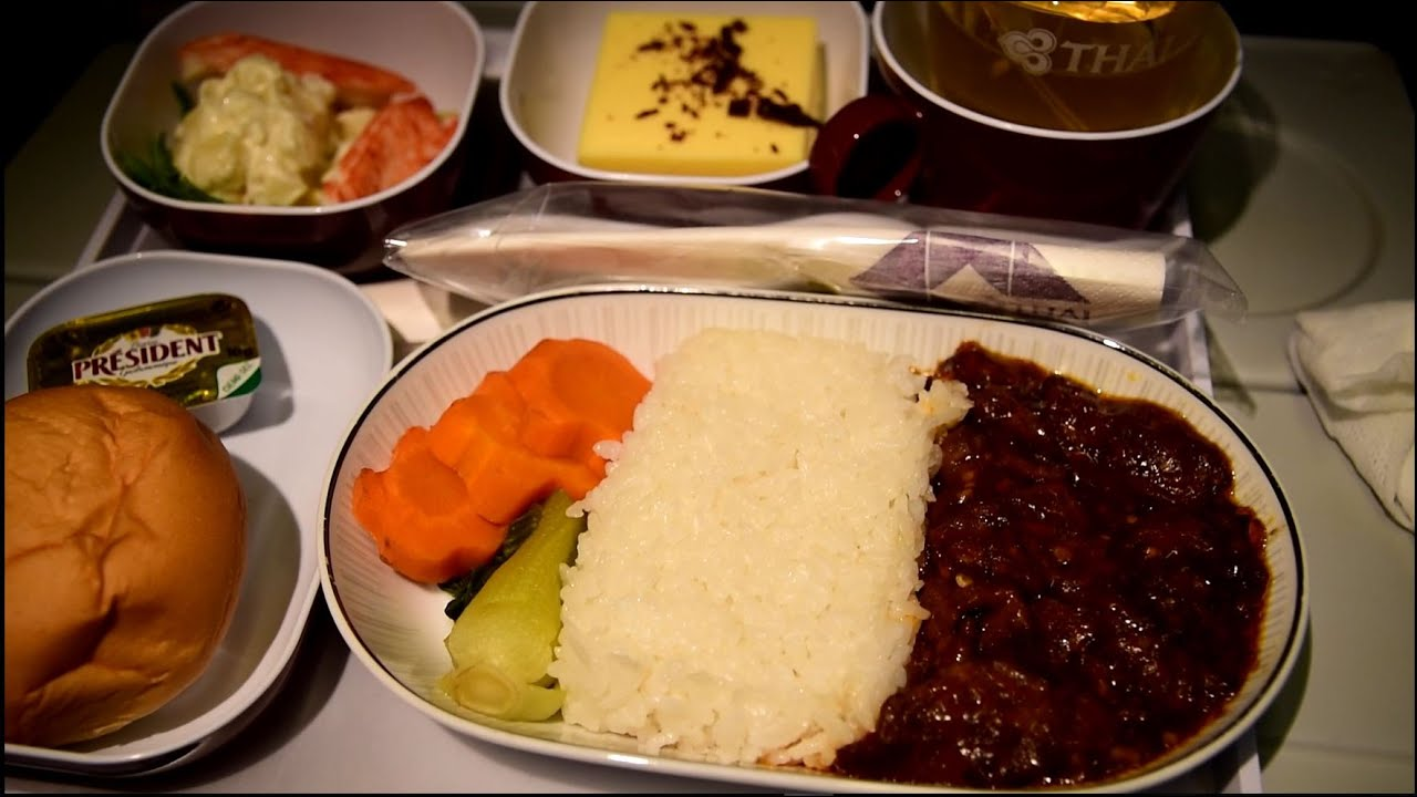 Thai airways smooth as silk economy class 777 300 beijing for Air thai cuisine