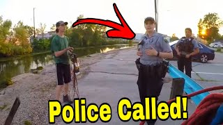 Confronted By POLICE For Magnet Fishing!!